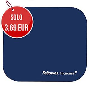 Tappetino mouse con Microban® Fellowes blu