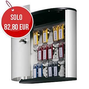 Cassetta portachiavi Durable 18 posti con serratura in alluminio grigio