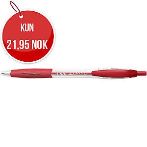 Kulepenn BIC Atlantis Premium, medium, rød, eske à 12 stk.