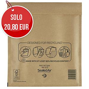 Buste a sacco imbottite Mail Lite® gold 22x26 cm avana - conf. 100