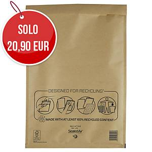 Buste a sacco imbottite Mail Lite® gold 30 x 44 cm avana - conf. 50