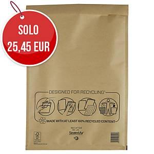 Buste a sacco imbottite Mail Lite® gold 30 x 44 cm avana - conf. 50