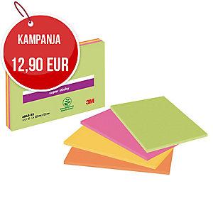 Post-it Super Sticky Meeting Notes viestilaput A5, myyntierä 1 kpl =  4 nidettä