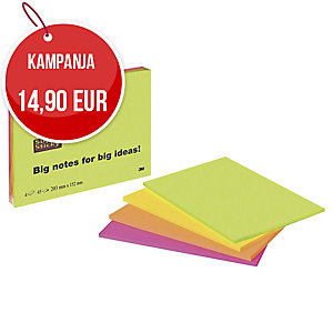 Post-it Super Sticky Meeting Notes viestilaput A5, myyntierä 1 kpl =  4 nidettä