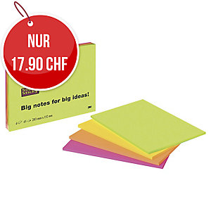 Haftnotizen Post-it Meeting Notes Super Sticky 6845-4SP, 203x152 mm, Pk. à 4 Stk