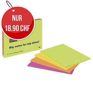 Haftnotizen Post-it Super Sticky, 45 Blatt, Pk. à 4 Stk