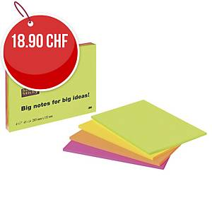 Notes repos. Post-it Super Sticky, 45 feuilles, paq. 4 unités