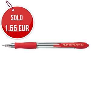 Penna a sfera a scatto Pilot Super Grip punta 1 mm rosso