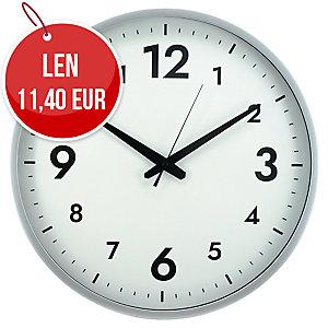 Nástenné hodiny Alba HORISSIMO M bielo-strieborné, priemer 38 cm