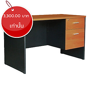 ACURA โต๊ะทำงานไม้ TWC1202-60(F) เชอร์รี่/ดำ