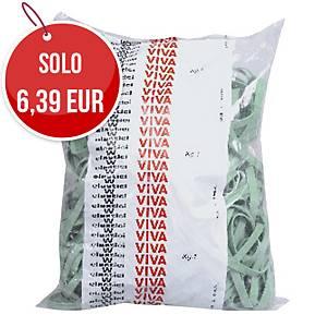 Elastici a fettuccia Viva diametro 150 mm verde - conf. 1 kg