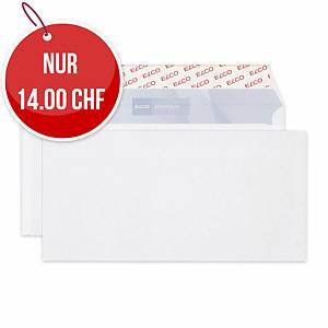 Couvert Elco Office, C5/6, ohne Fenster, 80 gm2, weiss, Pack à 200 Stk.