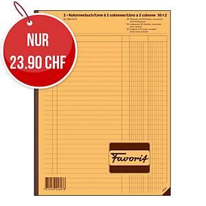 Durchschreibebuch Favorit A4, 2-Kolonnenbuch, 50x2 Blatt, nummeriert