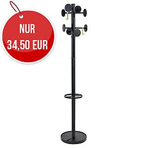 Alba STAN3 Garderobenständer, 175 cm, Metall-Kunststoff, schwarz