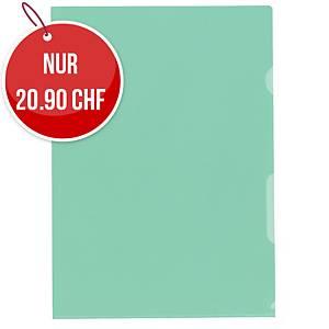 Sichtmappe Kolma Visa Dossier, A4, PP, grün, Packung à 100 Stück