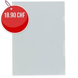 Dossiers-chemises Kolma A4 haute transparent, incolore, emb.de 100 pcs (5946400)