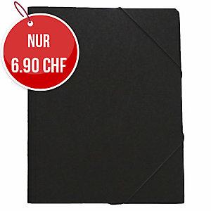 Gummizugmappe Erola 33299 A4, Presspan 650 g/m2, schwarz
