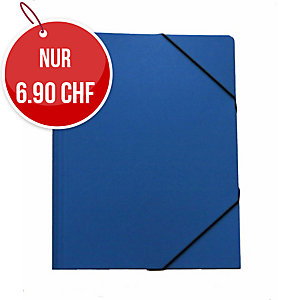 Gummizugmappe Erola 33299 A4, Presspan 650 g/m2, blau
