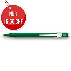 Kugelschreiber Caran d Ache 849, Strichbreite M, grün schreibend, grün