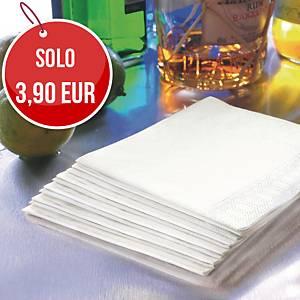 Tovaglioli a 2 veli Duni 24x24 cm bianco - conf. 300