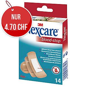 Nexcare Blood Stop Heftpflaster, assortiert, Packung à 14 Stück