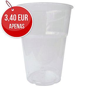 Pack de 50 copos DUNI de poliestireno 250cc transparente