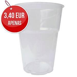 Pack de 50 copos Duni - poliestireno - 250 ml - transparente