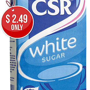 CSR SUGAR WHITE 1KG - EACH