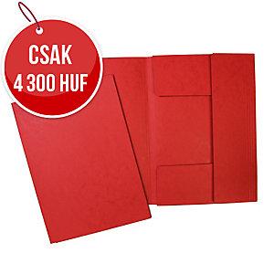 Hit Office iratgyűjtő 3 pólyával, piros A4, 20 darab/csomag