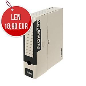 Archivačné prenosné krabice Emba 33 x 26 x 7,5 cm čierne, balenie 25 kusov