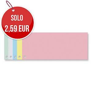 Divisori a 2 fori Exacompta Forever 24 x 10,5 cm cartoncino giallo - conf. 100
