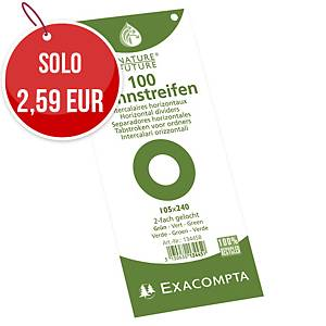 Divisori a 2 fori Exacompta Forever 24 x 10,5 cm cartoncino verde - conf. 100