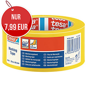 tesa® 60760 PVC-Markierungsband gelb 50 mm x 33 m