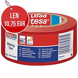Označovacia PVC páska tesaflex® 60760, 50 mm x 33 m, červená