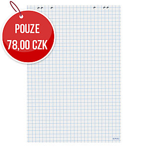 Flipchartové bloky Herlitz - 20 stran, čtverečkované