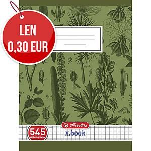 Zošit Herlitz A5, školský, štvorčekový, 40 listov