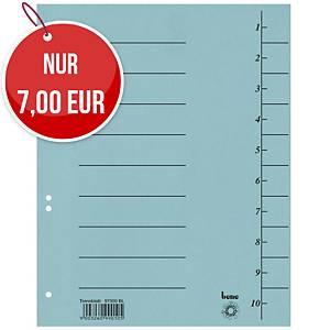 Bene 97300 Trennblätter A4, 250 g, blau, 100 Stück