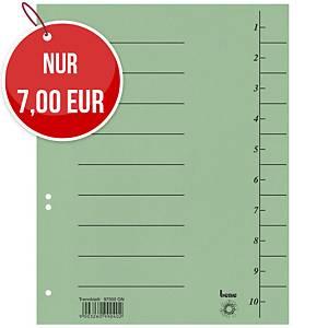Bene 97300 Trennblätter A4, 250 g, grün, 100 Stück