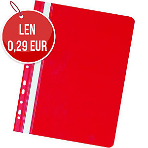 Závesný prezentačný rýchloviazač PVC Herlitz červený, balenie 20 kusov
