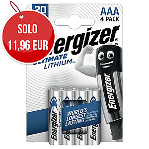 BATTERIE ENERGIZER LITHIUM LR3/AAA - CONF. 4