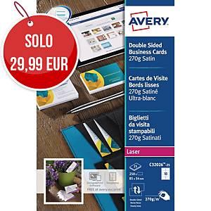 Biglietti da visita stampabili Avery C32026-25 stampanti laser - conf. 250