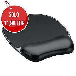 Tappetino mouse con poggiapolsi Fellowes Crystal Gel nero