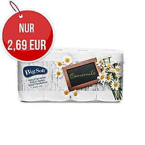 Big Soft Deluxe 3-lagiges weißes Toilettenpapier Kamille, 8 Stück