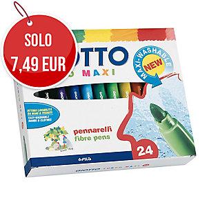 Pennarelli Giotto Turbo Maxi punta large in scatola - conf. 24