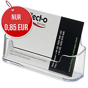 Deflecto Visitenkartenständer, A8, transparent