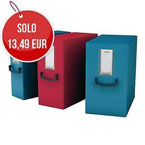 Cartella portaprogetti con maniglia Leonardi PPL con bottone dorso 20 cm blu