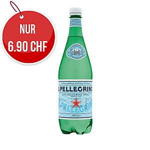 San Pellegrino Mineralwasser mit Kohlensäure 1 l, Packung à 6 Flaschen