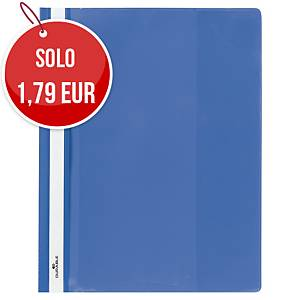 Cartelletta trasparente ad aghi Durable Duraplus A4 blu
