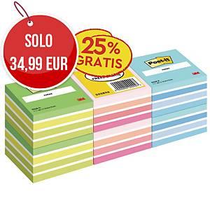 Foglietti Post-it® adesivo standard offerta 6 cubi -25% gratis 76x76mm