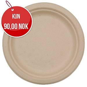 Tallerkener Duni, komposterbare, Ø 22 cm, beige, pakke à 50 stk.